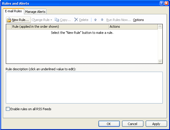how to run rules in outlook 365 webmail