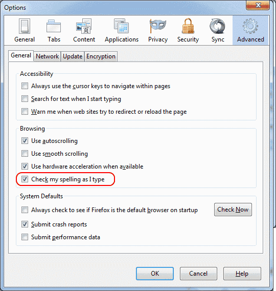 How to Turn Spell Check On or Off in Firefox
