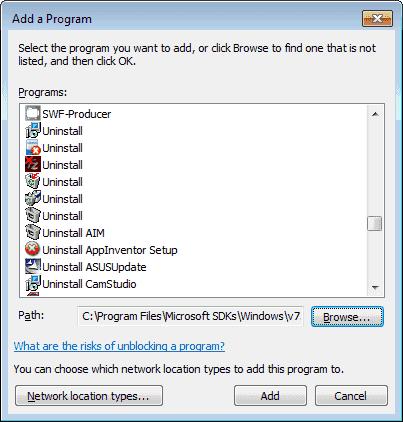 how to change firewall ports on windows 7