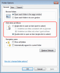 How to Enable or Disable Single-Clicking Feature in Windows