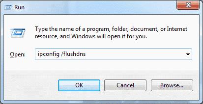 Windows Flush DNS command