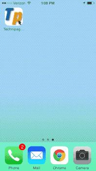 Safari icon created on Home