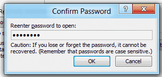 Word 2010 confirm set password on document