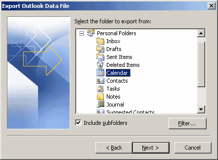 Outlook 2010 Export Pst >> Outlook 2016: Backup/Export & Import Data - Technipages