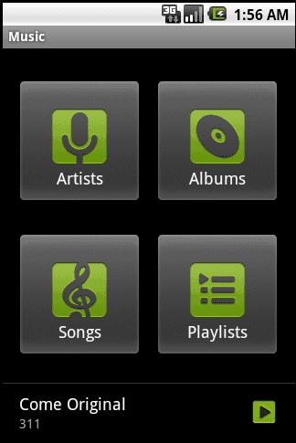 Droid Music app