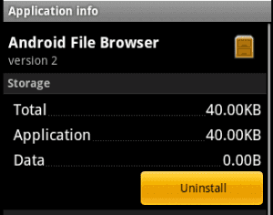 Droid Uninstall option
