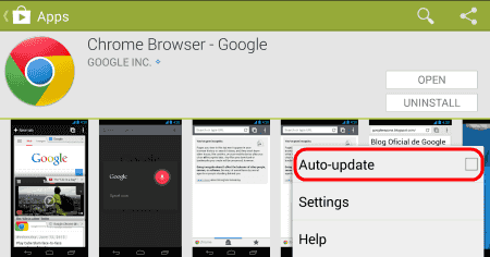 error checking for updates play store