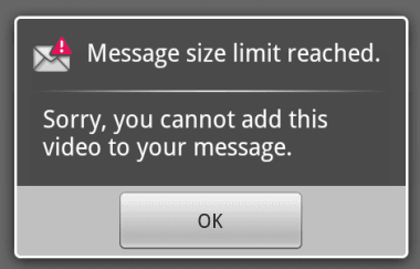 message limit reached