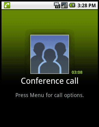 Nexus One in conference call