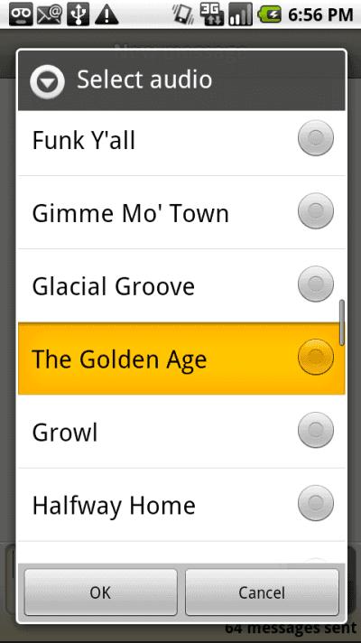 Choose ringtone