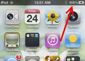Enable Battery Percentage Meter On iPhone, iPad, or iPod