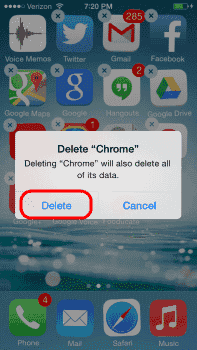 iOS Confirm Delete