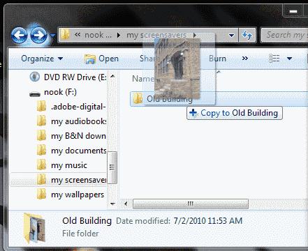 Drag to Old Building folder