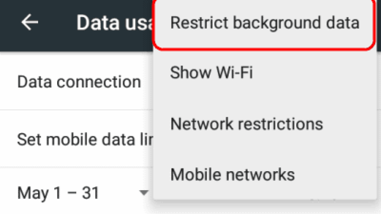Android: Enable or Disable Background Data