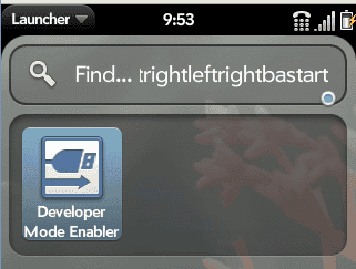 Palm Pre Developer Mode Enabler