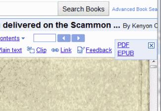 Google Books download option