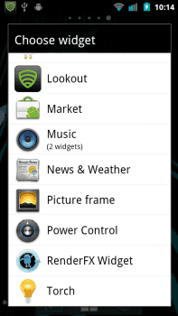 standard Android widgets