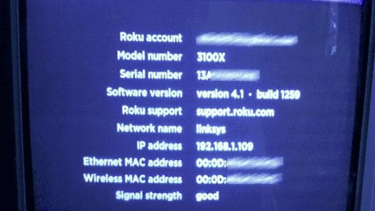 Roku: How to Locate MAC Address - Technipages