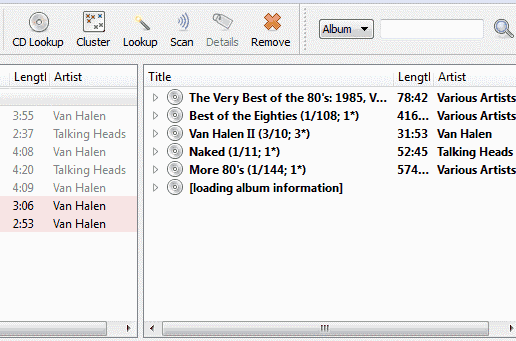 MusicBrainz scanning process