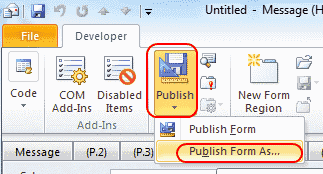 Outlook 2010 publish form as