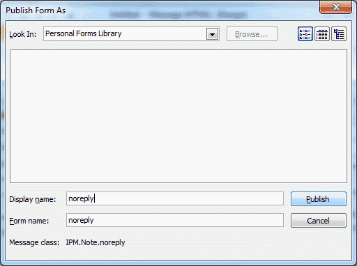 Outlook 2010 publish form name