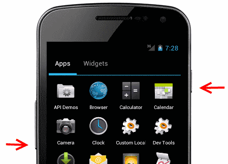 capturar pantalla Android