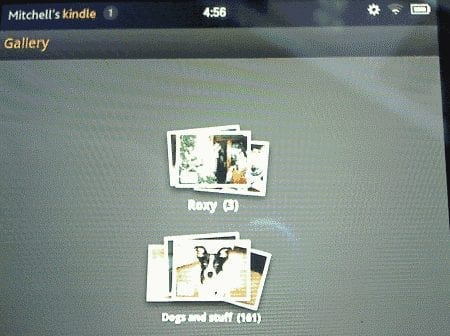 Kindle Fire Gallery app with photos