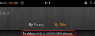 Kindle email address