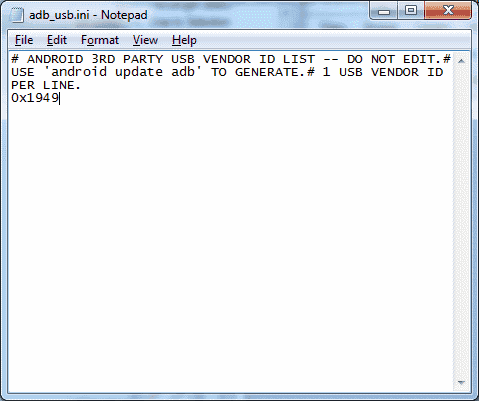 add line to adb_usb file