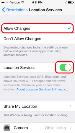 how to change my location