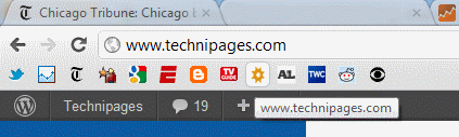 Bookmark Bar icons