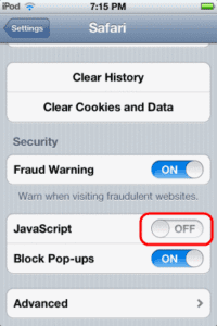 Enable or Disable JavaScript in Safari for iPhone & iPad