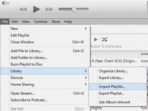 iTunes Import Playlist