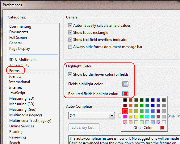 Adobe Reader: Change Highlight Color