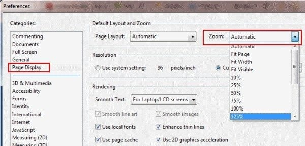 Adobe Reader: Change Default Zoom Setting - Technipages