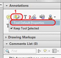 Reader highlight tool properties