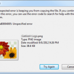 "Fix ""An unexpected error is keeping you from copying the file"" Error in Windows"