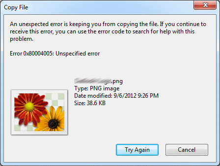 "Fix ""An unexpected error is keeping you from copying the file"" Error"