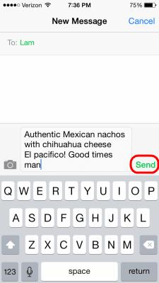 iOS Send Text Message