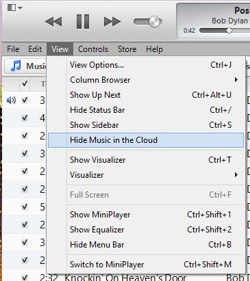 Hide music option