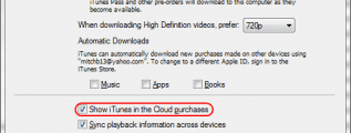 Show Cloud Purchases option