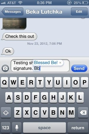 iPhone: How to Add a Signature to Text Messages