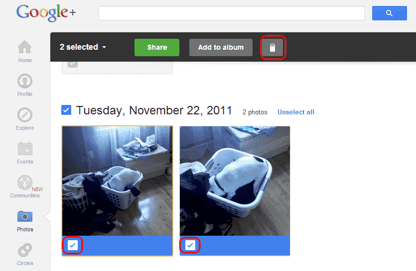 if you want to keep your images in your google