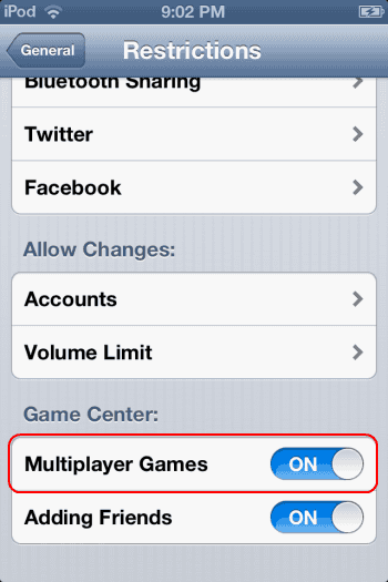 "iPhone & iPad: Fix ""Multiplayer Unavailable – You are not allowed to play multiplayer games on this device"""