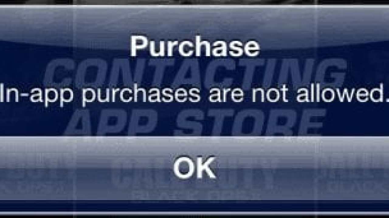 """iPhone & iPad: Fix """"In-app purchases are not allowed"""" Message"""