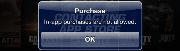 "iPhone & iPad: Fix ""In-app purchases are not allowed"" Message"