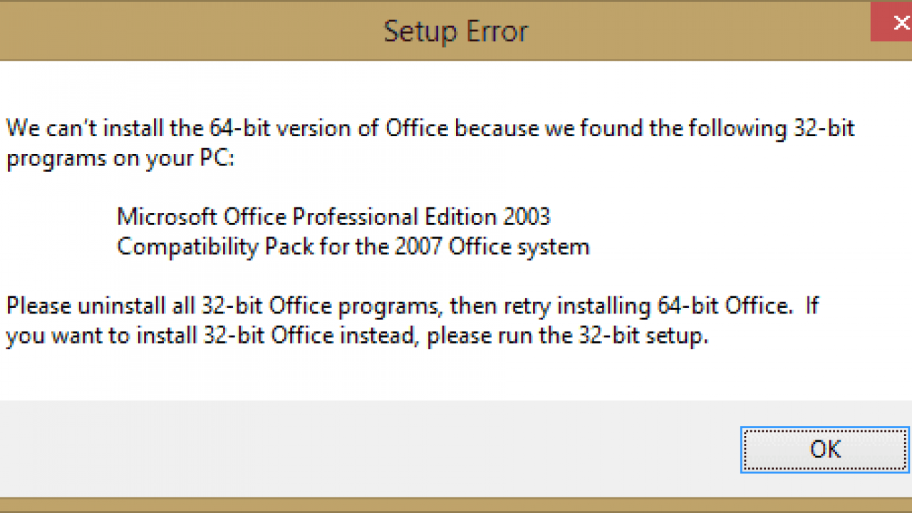 MS Office: Fix
