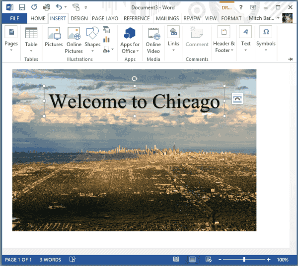 Word 2016 How To Set Background