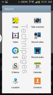 S4 Attach screen