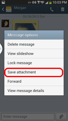 S4 Save attachment option